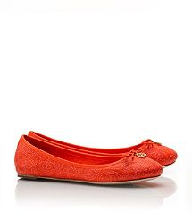 Stitched Logo Chelsea Ballet Flat - Tory Burch - I NEED this shoe in every color!