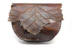 Yaprak desenli el işi çanta