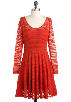 Have You Red the News? Dress, #ModCloth