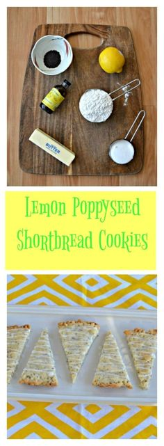 Give these buttery Lemon Poppyseed Shortbread Cookies a try with a cup of tea or coffee!#cookies #dessert #lemon Lemon Desserts, Lemon Recipes, Delicious Desserts, Roll Cookies, Yummy Cookies, Cake Cookies, Cookie Recipes, Dessert Recipes, Dessert Ideas
