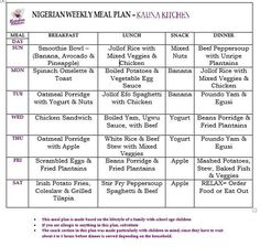 LOW CARB NIGERIAN TIMETABLE in 2019 | Low carb meal plan ...