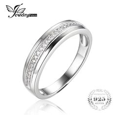 JewelryPalace 100% 925 Sterling Silver Classic European and American classic anniversary rings Fine Jewelry and Best Gift