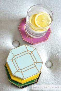 DIY Jewel Coasters
