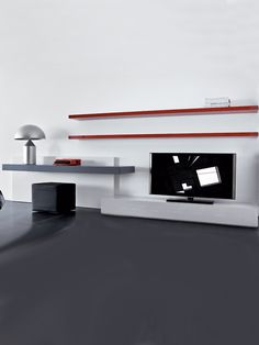 wall unit with desk and tv - Google Search