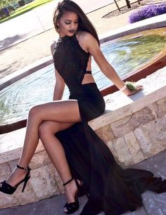 #BLACK  #chiffon #prom #party #evening #dress #dresses #gowns #cocktaildress #EveningDresses #promdresses #sweetheartdress #partydresses #QuinceaneraDresses #celebritydresses #2017PartyDresses #2017WeddingGowns #2017HomecomingDresses #LongPromGowns #blackPromDress #AppliquesPromDresses #CustomPromDresses #backless #sexy #mermaid #LongDresses #Fashion #Elegant #Luxury #Homecoming #CapSleeve #Handmade #beading