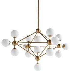 "Modernist Brass Globe 15 LampSize:  32"" W x 32"" D x 54"" H $1498"