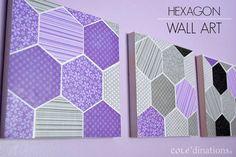 Hexagonal-DIY-Paper-Wall-Art-Darice-1