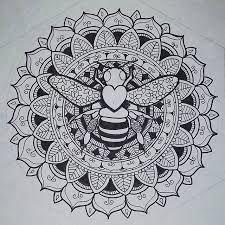 Image result for honey bee mandala