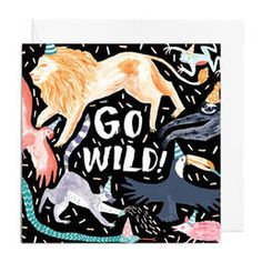 Items similar to Greetings Card - Go Wild, Birthday, Celebration, Congratulations Greetings Card on Etsy Congratulations Greetings, Beautiful Notebooks, Stationery Paper, Cute Stickers, Paper Goods, Birthday Celebration, Animal Kingdom, Nerd, Greeting Cards