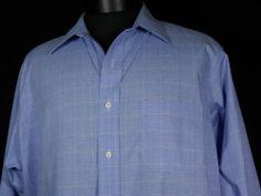 Brooks Brothers Dress Shirt 16.5 34/35 Blue Non Iron 100% Cotton Checks Plaids #Fashion #Shopping #eBay http://r.ebay.com/VaCqBQ via @eBay
