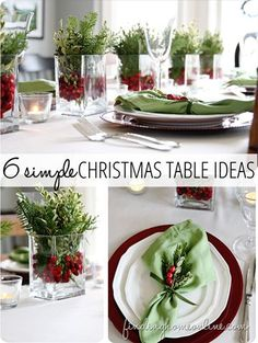 Create a beautiful Christmas table with these 6 simple ideas