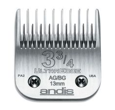 DOG GROOMING - CLIPPERS/PARTS - ULTRAEDGE BLADE - SIZE 3 3/4 - ANDIS COMPANY - UPC: 40102641336 - DEPT: DOG PRODUCTS