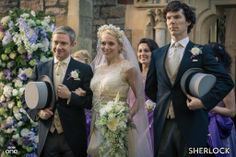 The Bride and Bridegroom, Mary Morstan and Dr. John Watson, with Best Man #Sherlock Holmes: