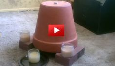 I can't believe this is possible! Let's say you have no electricity, run out of fuel and everything you normally use to heat up your house... Can you believe that with just 2 pots and 2 candles... ...