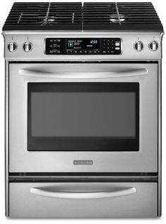 KitchenAid Architect Series II : KDSS907SSS 30 Slide-In Dual Fuel Range - Stainless Steel *** You can find out more details at the link of the image.