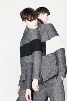 Kris Van Assche FW13 Lookbook. really like the idea of collaging, dimensional