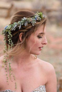 Colorado Desert Elopement Styled Shoot Bridal Headpieces, Bridal Hair, Desert Flowers, Fall Color Palette, Victorian Flowers, Floral Garland, Diy Hair Accessories, Boho Hairstyles, Intimate Weddings