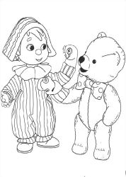Free Andy Pandy Coloring Book Pages