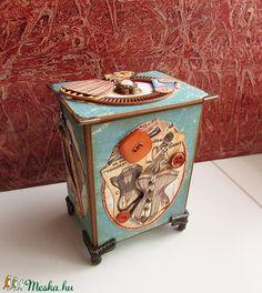 Varródobozka (StoneHEArt) - Meska.hu Suitcase, Diy, Bricolage, Do It Yourself, Briefcase, Homemade, Diys, Crafting