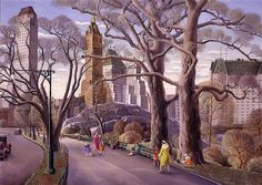 Carl Gustaf Nelson: Central Park, 1934