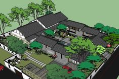 Stairs Architecture, Chinese Architecture, Amazing Architecture, Architecture Details, Chinese Courtyard, Neoclassical Interior, Sims House Design, Building Elevation, Drawing Interior