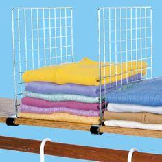chrome shelf dividers set of 4 at