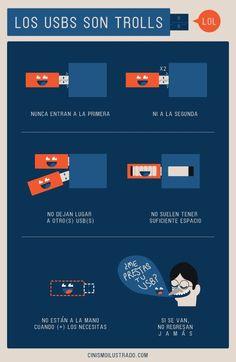 Los USB son los auténticos #troll de la informática