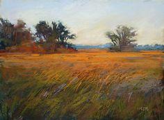 Marsh Late Afternoon Light Landscape por KarenMargulisFineArt