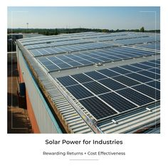 Solar technology has experienced a huge drop in price and advanced technological developments with increased system efficiency in the recent years. This has made solar an extremely lucrative investment option for business/factory owners. Business/factory owners can immensely benefit from: 1. Reduced electricity bills 2. Accelerated depreciation @40% 3. Reduced carbon emissions Solar Energy Panels, Best Solar Panels, Solar Energy System, Advantages Of Solar Energy, Alternative Energy Sources, Solar Roof, Energy Resources, Solar Panel System, Sustainable Energy