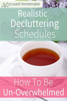 Here are 3 different, realistic decluttering schedules for getting control of the clutter your home, based on the ages of your children.