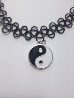 Yin Yang Black Tattoo Choker Necklace by SuburbanRiotz on Etsy, $7.00