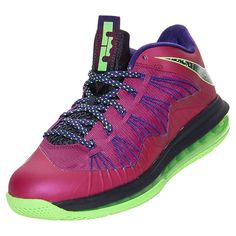 Business Stuff: Nike Men's Air Max LeBron X Low Basketball Shoes, Raspberry Red/Blueprint/Court Purple - 12.0