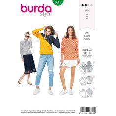 Misses Hoodie Burda Sewing Pattern 6315. Size 8-18.
