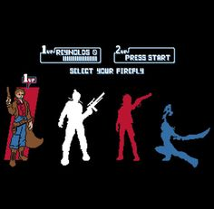 Select Your Firefly T-Shirt by baznet ($24.54)