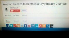 Woman Freezes to Death in a Cryotherapy Chamber