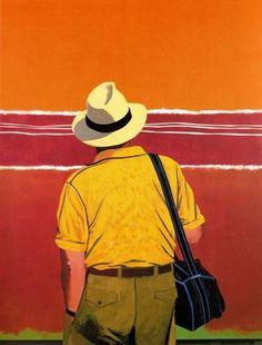 Eduardo Úrculo, Tribute to Mark Rothko, 1993. Acrylic on canvas. 162 x 140 cm. Private collection.