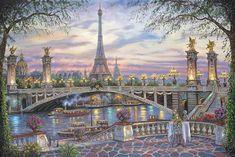 Paris Memories by Robert Finale - http://www.parsonsthomaskinkadegallery.com/paris-memories-by-robert-finale/