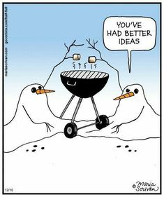 - 'Half Full' by Maria Scrivan; Snowman Jokes, Snowman Cartoon, Christmas Jokes, Christmas Cartoons, Christmas Fun, Funny Cartoons, Funny Jokes, Hilarious, Office Humor