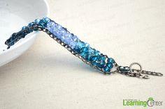 Easy Homemade Bracelets-Crystal Beaded Bracelets out of Chain - Pandahall.com