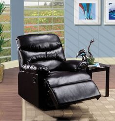 Acme Furniture - Arcadia Espresso Bonded Leather Recliner Reclinling Rocker - 59017