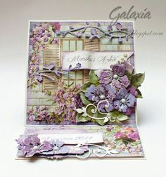 Step Cards, Beautiful Handmade Cards, Easel Cards, Flower Cards, Homemade Cards, Cardmaking, Decorative Boxes, Scrap, Blog