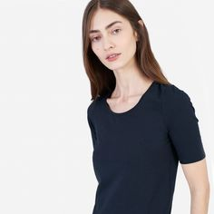 The Pima Stretch Mid-Sleeve - Everlane
