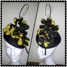 ♕ღ♕   Black & Yellow BY LEAH ROBINSON #millinery #HatAcademy