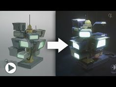 Concept art to Blender 2.8 (EEVEE) | Timelapse | - YouTube