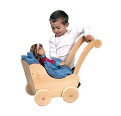 Guidecraft G98106 Guidecraft Doll Buggy Natural