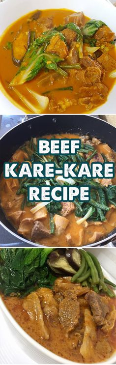 The Kare-Kare is not a so simple dish. Its main ingredient is the Oxtail. The Filipino Bokchoy, Banana Blossom, Eggplant and String beans are a must in this recipe.  It can be combined with other meat ingredients like Pork hocks or whatever the cook prefers to add.