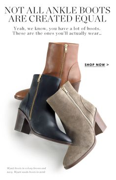 JCrew Email Design | Ankle Boots