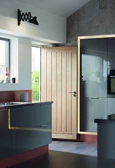 a matt light grey slab door is highly versatile and can be