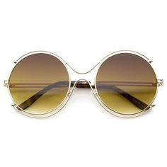 Frau Retro-Mode Metall Sonnenbrille HAOYUXIANG,GoldFramePowder