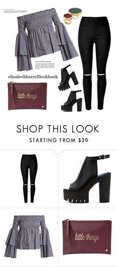 """STYLED BY LIZ"" by elizabethhorrell ❤ liked on Polyvore featuring Caroline Constas, Deux Lux and Marni"